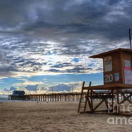 Eddie Yerkish - Dramatic Sky at Newport Beach Pier