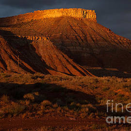Robert Ford - Dramatic Sunset Glow on Hurricane Mesa near Virgin Utah