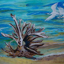 Veronica Rickard - Driftwood on Lake Huron