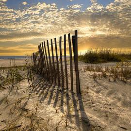 Debra and Dave Vanderlaan - Dune Fence at Sunrise