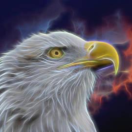 Ernie Echols - Eagle Head In Clouds Digital Art