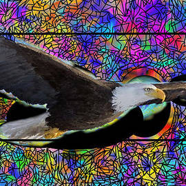 Donald Pavlica - Eagle in Painted Stain Glass