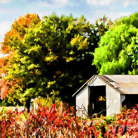 Debbie Portwood - Early Autumn Tractor Shed  Digital paint