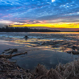 Julis Simo - Early March Sunset over Narew River in Poland
