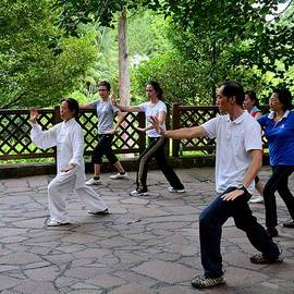 Imran Ahmed - Early morning Tai Chi exercise in park