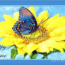 JH Designs - Easter Butterfly and Flower