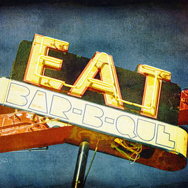 Ann Powell - Eat Barbecue Vintage Sign - textured photo art
