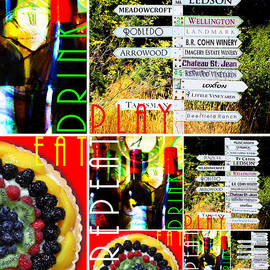 Wingsdomain Art and Photography - Eat Drink Play Repeat Wine Country 20140713 v3 Vertical 1