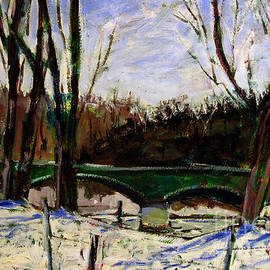 Charlie Spear - Eeel River Bridge Winter Thaw
