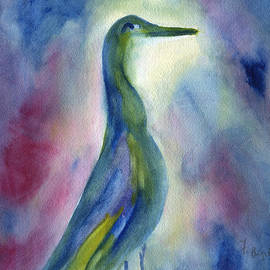 Frank Bright - Egret Profile Abstract