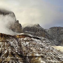 John Dickinson - El Capitan emerging through the clouds