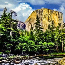 Bob and Nadine Johnston - El Capitan Yosemite River Painting
