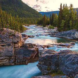 Stephen Kennedy - Elbow Falls AB Sunset