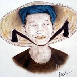 Jim Fitzpatrick - Elderly Vietnamese Woman Wearing a Conical Hat