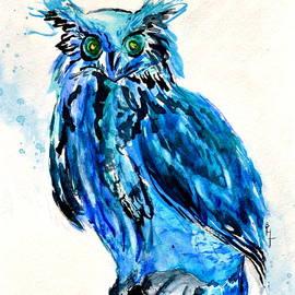 Beverley Harper Tinsley - Electric Blue Owl