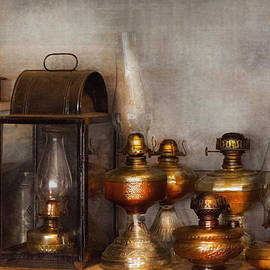 Mike Savad - Electrician - A collection of oil lanterns