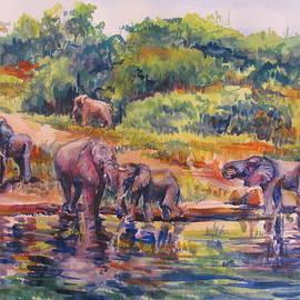 Joyce Kanyuk - Elephants Drinking