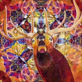 Joseph J Stevens - Elk Spirits in the Garden