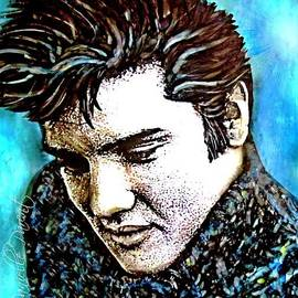 Danielle  Parent - Elvis Presley Never Left The Building Alcohol Inks