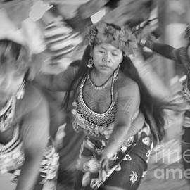David Smith - Embera Villagers in Panama as black and white