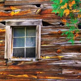Michael Mazaika - Embracing Autumn - Barn and Window Close1 - Bedford PA
