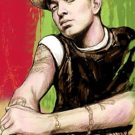 Kim Wang - Eminem long stylised drawing art poster