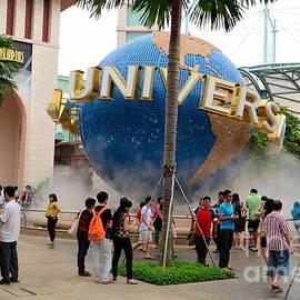 Imran Ahmed - Entrance to Universal Studios Theme Park Sentosa island Singapore