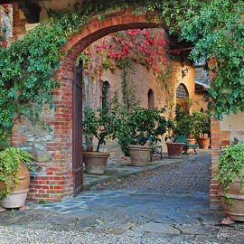 Entry to a Brunello Winery in Tuscany
