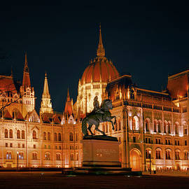 Joan Carroll - Equestrian Statue and Hungarian Parliament