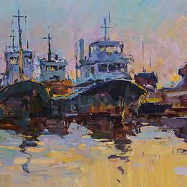 Alexander  Kriushin - Evening in the port