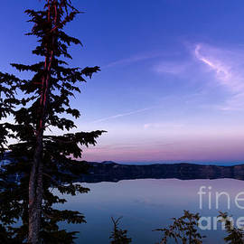 Reflective Moments  Photography and Digital Art Images - Evening Light - Crater Lake