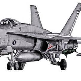 Clay Greunke - F/A-18C Forward Quarter