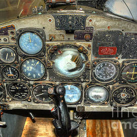 Kathy Baccari - F9F Cougar Fighter Plane Cockpit