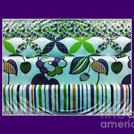 Barbara Griffin - Fabric Swatches Purple Border
