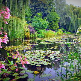 Carla Parris - Fairy Tale Pond with Water Lilies and Willow Trees