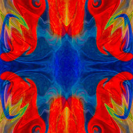Omaste Witkowski - Faith And Love Abstract Pattered Artwork
