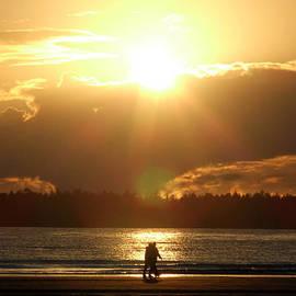 Lyn  Perry - Fall Beach Walk