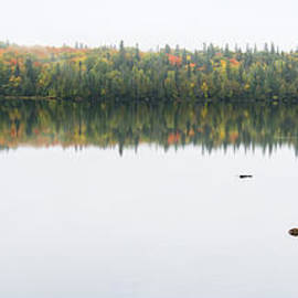 Les Palenik - Fall colors on a calm lake in northern Ontario