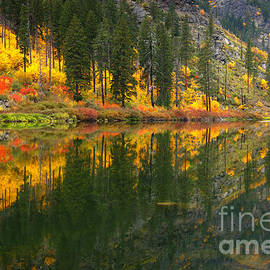 Reflective Moments  Photography and Digital Art Images - Fall Colors - Tumwater Canyon