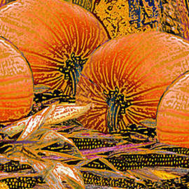 Michele  Avanti - Fall Harvest Pumpkins and Corn