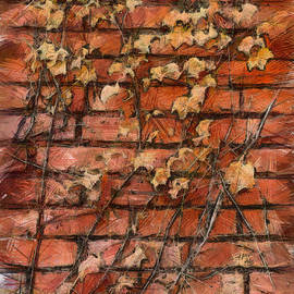 Michael Flood - Fall Leaves On Red Brick Wall