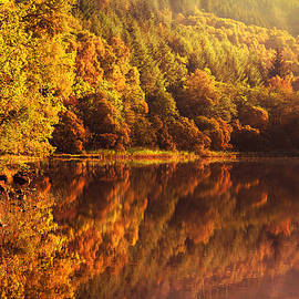 Jenny Rainbow - Fall Reflections. Loch Achray. Scotland