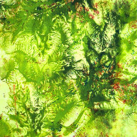 Nancy Merkle - Falling Leaves Abstract Art