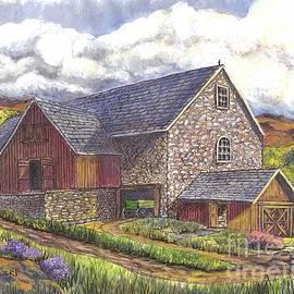 Carol Wisniewski - A Scottish Farm pen ink wc