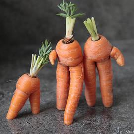 Alex Khomoutov - Family Walk - Funny Art - Comic Carrots - Good Luck Energy Print