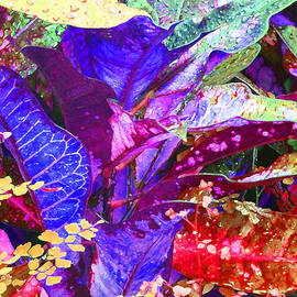 Margaret Saheed - Fantasy Colored Leaf Abstract