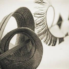 Jo Ann Tomaselli - FASHION ART -  BIG SWIRL HAT by Jo Ann Tomaselli