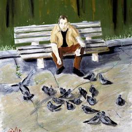 Lawrence Golla - Feeding Pigeons