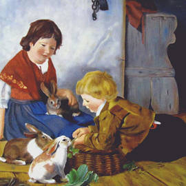 Zelma Hensel - Feeding the Bunnies