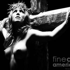 Ramon Martinez - Female Christ Black and White